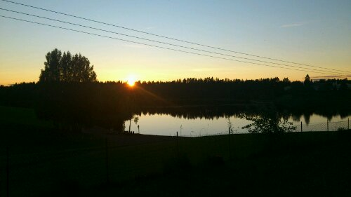 sunrise in norwa
